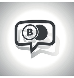 Curved bitcoin coin message icon vector