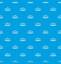 Customer support operators pattern seamless blue vector