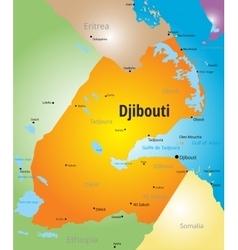 Djibouti vector image