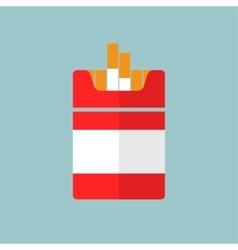 Flat cigarettes icon vector