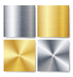 gold bronze silver steel metal abstract vector image vector image