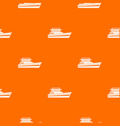 Great powerboat pattern seamless vector