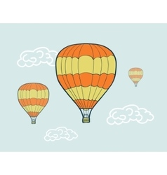 hand drawn sketch air balloons vector image