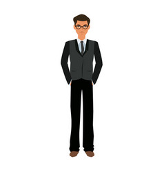 Handsome man business manager employee vector