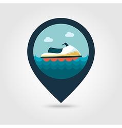Jet Ski pin map icon Summer Vacation vector image