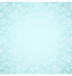 Lace frame on blue background vector