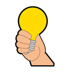 light bulb design vector image vector image