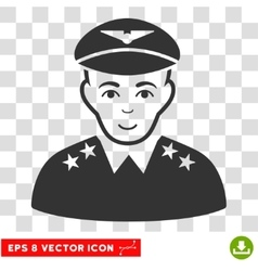 Military pilot officer eps icon vector