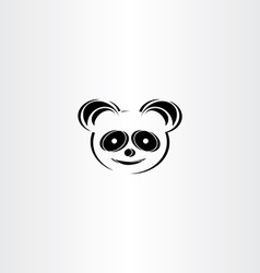 panda icon stylised icon vector image