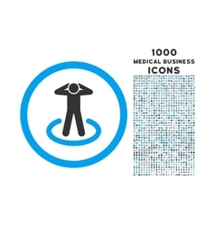 Prisoner Rounded Icon with 1000 Bonus Icons vector image vector image