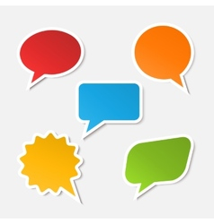 realistic speech bubble sticker vector image vector image