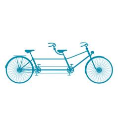 retro tandem bicycle in blue design vector image vector image