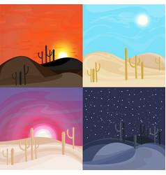 sand desert landscape templates vector image