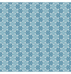 Seamless pattern with circles and abstract flowers vector image