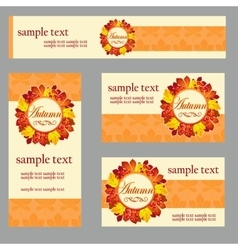 Set of cards in the same style and different size vector