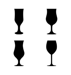 Silhouette glass collection vector