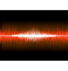 Sound waves on black background EPS 10 vector image vector image