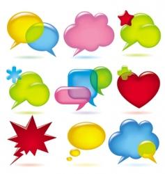 speak bubbles vector image