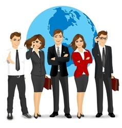 team of successful businesspeople vector image vector image