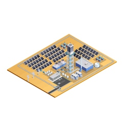 Solar Station Model Isometric Image vector image