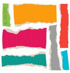 Torn paper objects vector