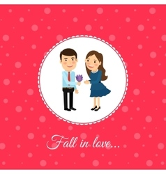Fall in love couple vector