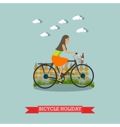 Bicycle holiday concept in vector