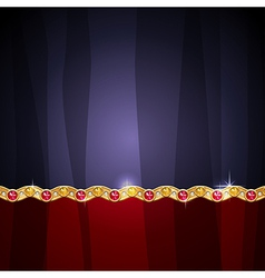 Jewel border vector
