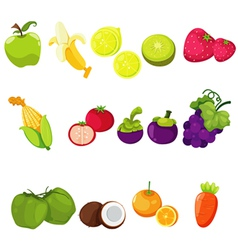 Vegetables and fruits vector