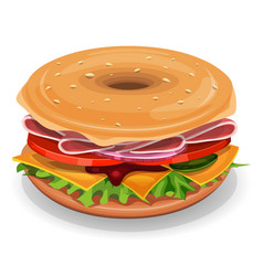 American bagel vector