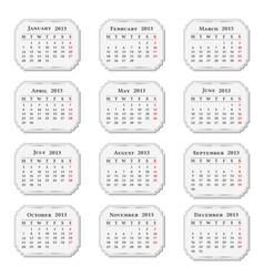 2013 Calendar vintage style vector image