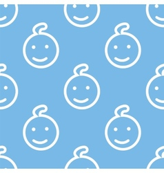 Kid seamless pattern vector