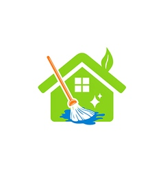 House cleaning service logo vector