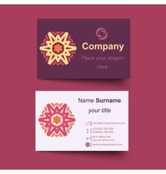 Modern simple light business card template vector