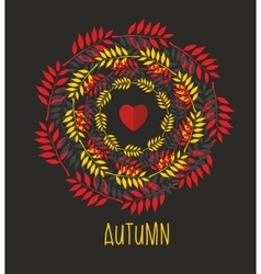 Love autumn cards over vector