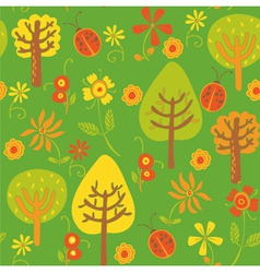 forest background pattern vector image