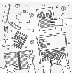 Accounting thin line icon vector