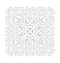 Shape molecular structure with lines and dots vector