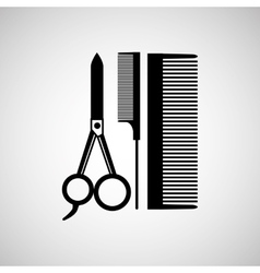Hairdressing salon design vector