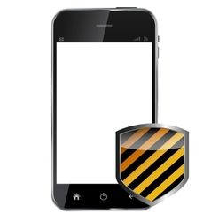 Abstract design realistic mobile phone with vector image vector image