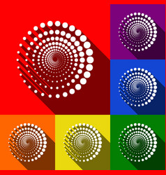 abstract technology circles sign set of vector image vector image