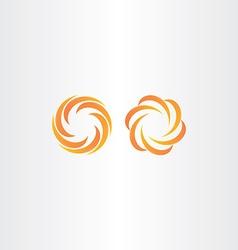 Autumn abstract logo orange yellow icon vector