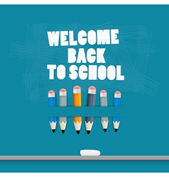 Back to school blue background vector