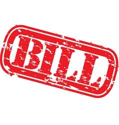 Bill stamp vector image