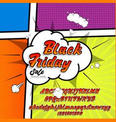 black friday sale 3d font alphabet written by vector image