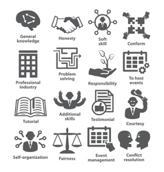 Business management icons Pack 22 vector image vector image