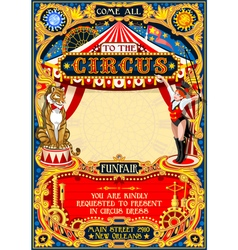 Circus Carnival Invite vintage 2d AurielAki vector image