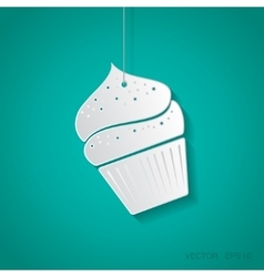 cupcake icon Eps10 vector image vector image