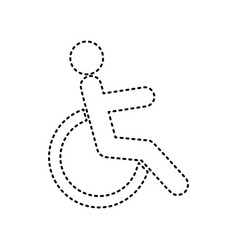 disabled sign black dashed vector image vector image