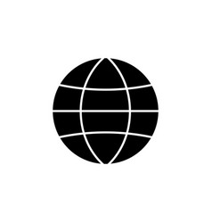 Globe station solid icon world and earth vector